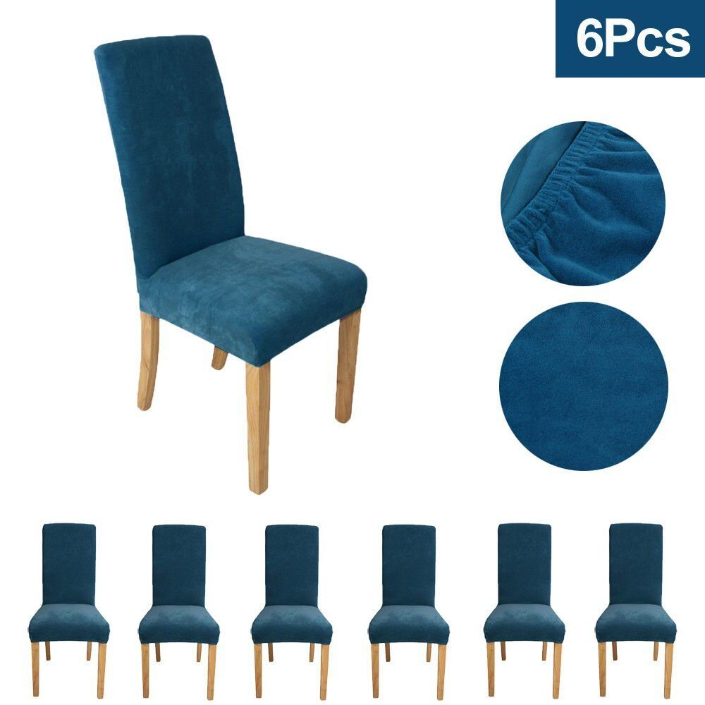 Velour Style Light Blue Easy Fit Chair Covers There Are Six Available In