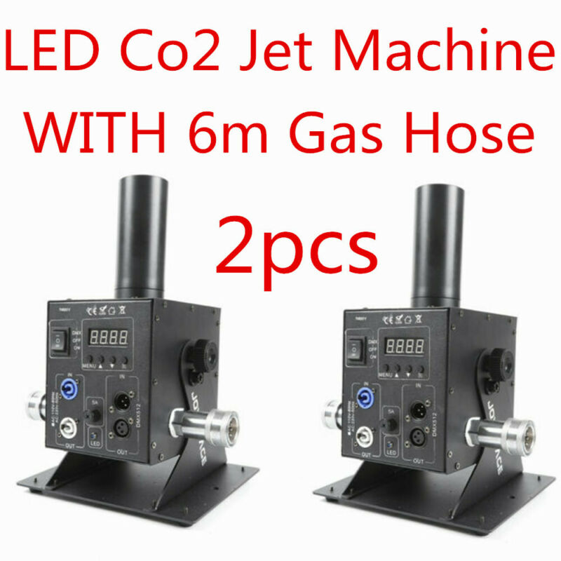 2pc LED RGB 3 in 1 Single Pipe Co2 Jet Machine LED for disco dj stage party show