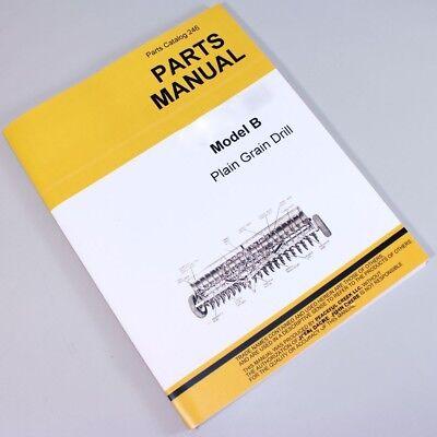 Parts Manual For John Deere Van Brunt Model B Plain Grain Drill Catalog