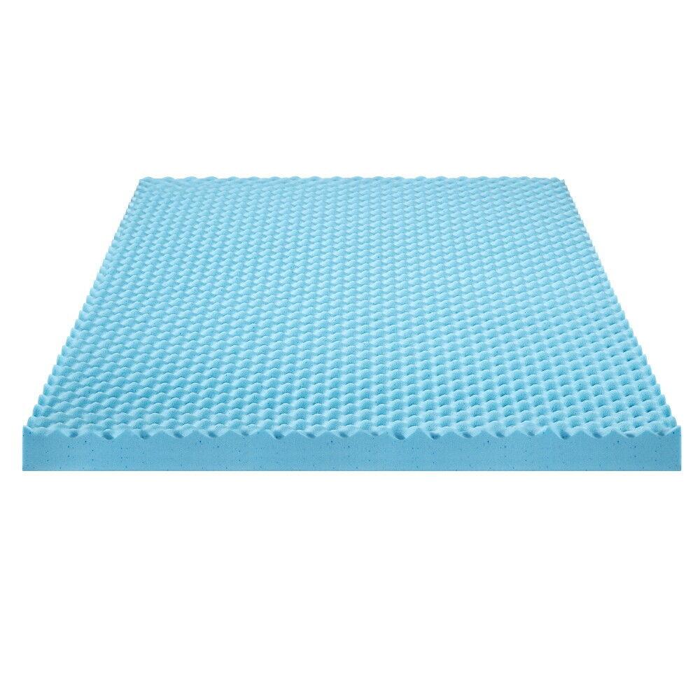 SLEEPLACE 2.5 Inch Plush I Gel Memory Foam Air Flow Topper T
