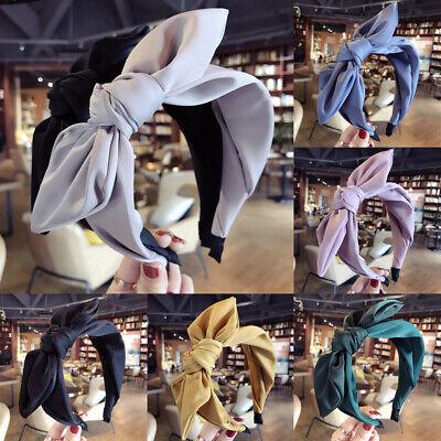 Womens Headband Twist Hairband Bow Knot Cross Tie Cloth Headwrap Hair Band Hoop ()
