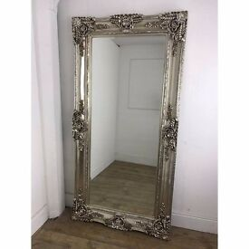 Ella ornate rectangular mirror