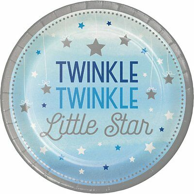 One Little Star Boy Appetizer/Dessert Plates-Set of 8-NEW-7 in. round