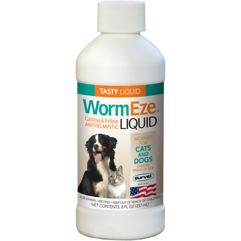 Worm Eze Liquid 8 oz Dogs Cats Wormer