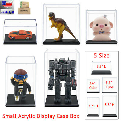 Us 5 Size Acrylic Clear Display Case Small Box Stackable Dustproof Figure Toy Uv