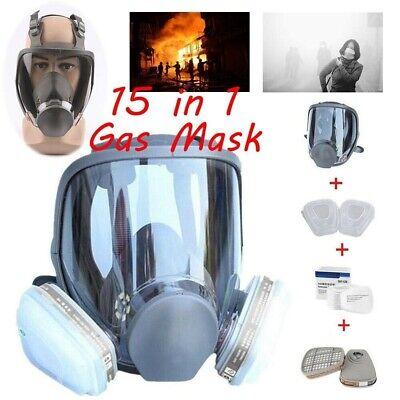 15 In 1 Suit  6800 Full Facepiece Reusable Respirator Full Face Gas Mask