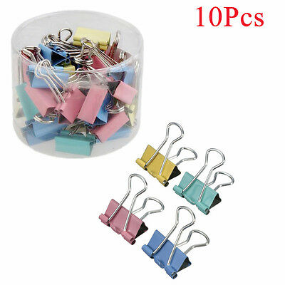 Portable 19mm Document Clips Office Stationery Paper Holder Binder Clips