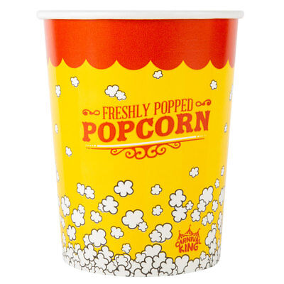 Case Of 100 Popcorn Cups 32 Oz Bucket Cup Tub Free Shipping