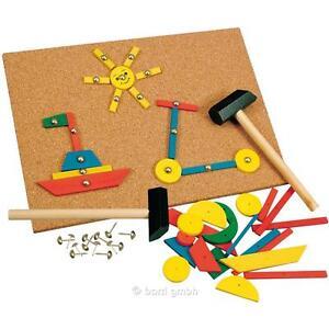 Bino 82188 - Hammer-Spiel Kreativität Geschicklichkeit HolzSpielzeug Feinmotorik