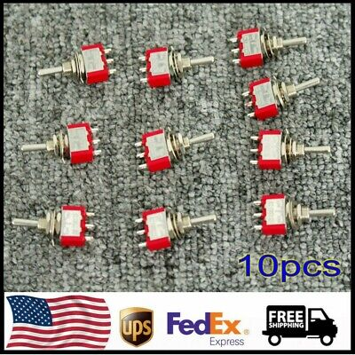 Mts-103 Spdt Momentary Toggle Switch 3position Ac 250v 2a 120v 5a Onoffon 10pc