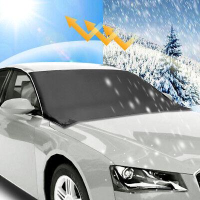 Windscreen Cover - Car Windshield Snow Sun Cover Tarp Ice Scraper Frost Dust Removal Truck Van SUV