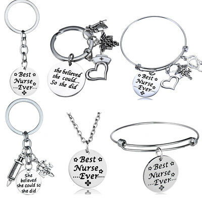 Nurse Gift RN LPN Medical Nursing Graduation Necklace Christmas Gift Key Chains (Nurse Graduation Gifts)