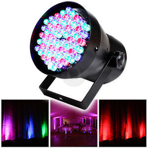 Pinspot PAR 36 Can 60 LED RGB 4 Channel DMX Light Disco Party DJ Stage Black