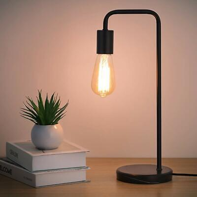 Industrial Classic Modern Beside Table Lamp Black Marble base Metal Frame ()