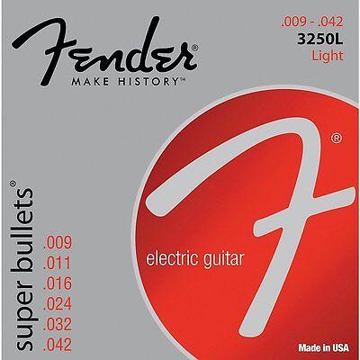 Fender 3250L Nickel-Plated Steel Bullet-End Light Electric Guitar Strings (9-42)