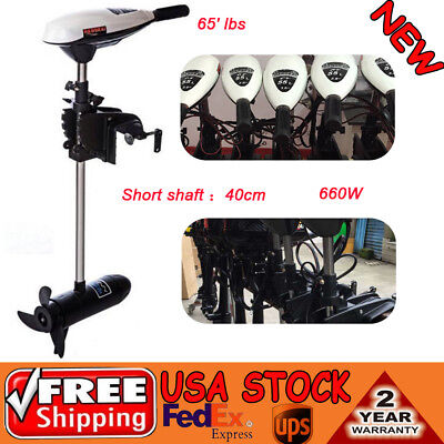 65' lbs Electric Outboard Boat Motor Engine Thrust Trolling Brush Motor ET65L US