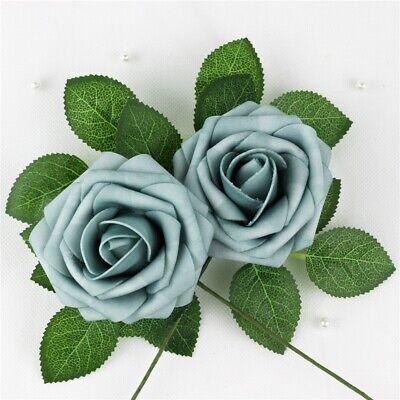 5 Colourfast Foam Rose Artificial Flower Party Wedding Bouquet Home Floral Decor - Foam Flowers