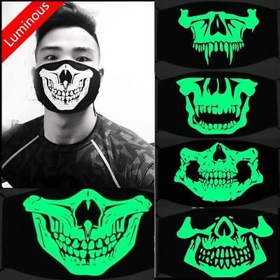 Halloween Mask Scary Skull Luminous Biker Motorcycle Party Horror Fishing UK (Halloween Masks Uk Horror)