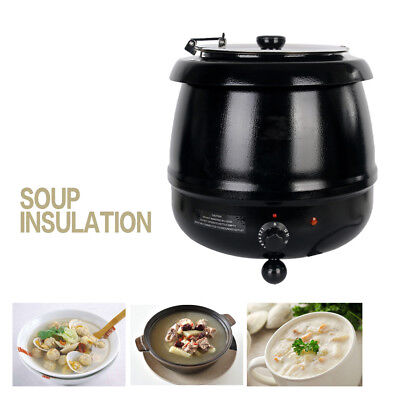 10l Commercial Electric Soup Kettle Wet Heat Food Warmer Cafeteria Party Hotel