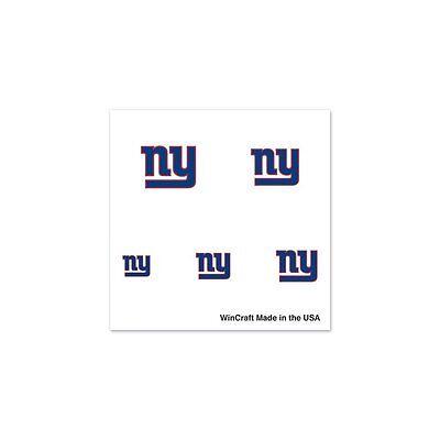New York Giants Tattoos (New York Giants Logo Finger Nail Tattoos 4 Pack Set)