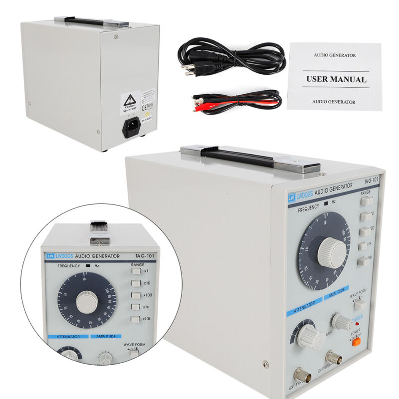 TAG-101 Audio / Low Frequency Signal Generator 10Hz-1MHz 5 Frequency Range NEW