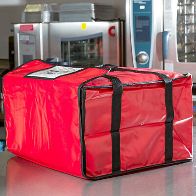 20 X 20 X 12 Red Heavy-duty End Load Vinyl Insulated Pizza Delivery Bag