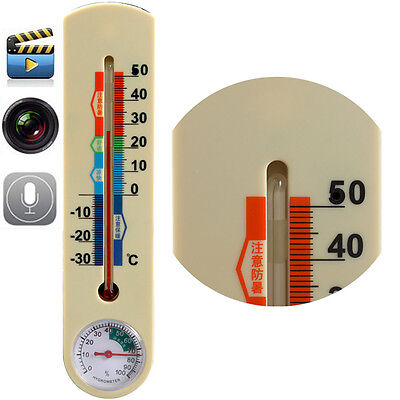 4GB Outdoor Thermometer Spy  Hidden Camera DVR Video Surveillance Audio RECORDER