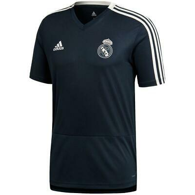 adidas Men's Soccer Real Madrid Short Sleeve Training Jersey CW8646 Tech Onix
