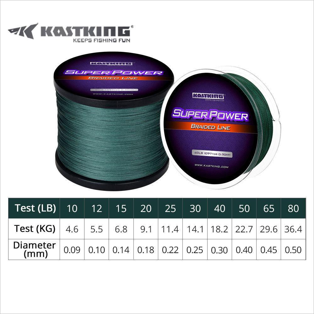 KastKing SuperPower Dyneema Braid Fishing Line 137//300//500//1000m 4//8 Strand Line