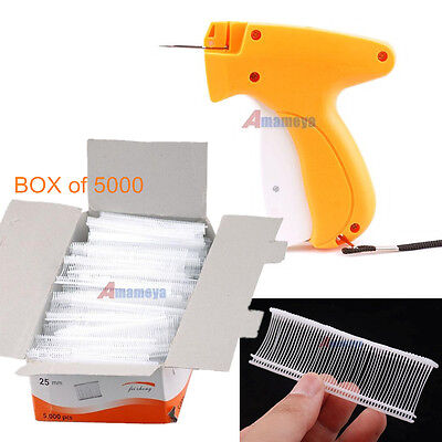 "Regular Clothing Garment Toy Retail Price Label Tag Gun 5000 1"" Tagging Barbs"