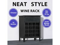 Wine Rack Black 56x35x75 cm Solid Mango Wood-247987