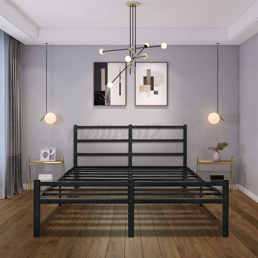 "14"" Platform Bed Frame Heavy Duty Folding Foundation Steel B"