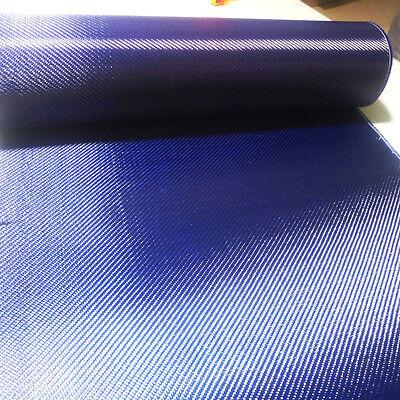 Carbon Fiber Blue Kevla 70cm Wide Mixed Fabric Carbon Aramid Cloth 200gsm