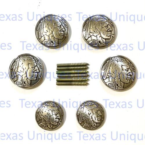 Indian Head Nickel Concho Saddle Set CON1009-A-SD-SET