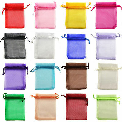 Candy Bags (Organza Wedding Party Favor Decoration Gift Candy Sheer Bags Pouches)