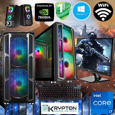 ULTRA Gaming PC Bundle Intel Core i7 16GB 240GBSSD+1TB Win10 GTX 1660...