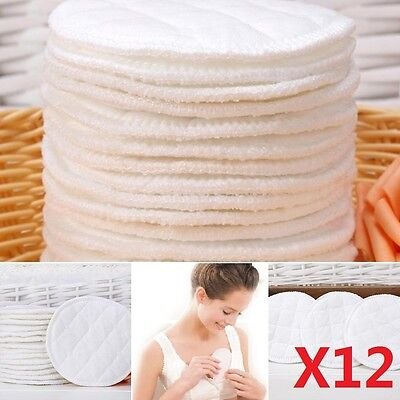 12X Baby Feeding Breast Pads Washable COTTON Nursing Breastfeeding Anti-overflow