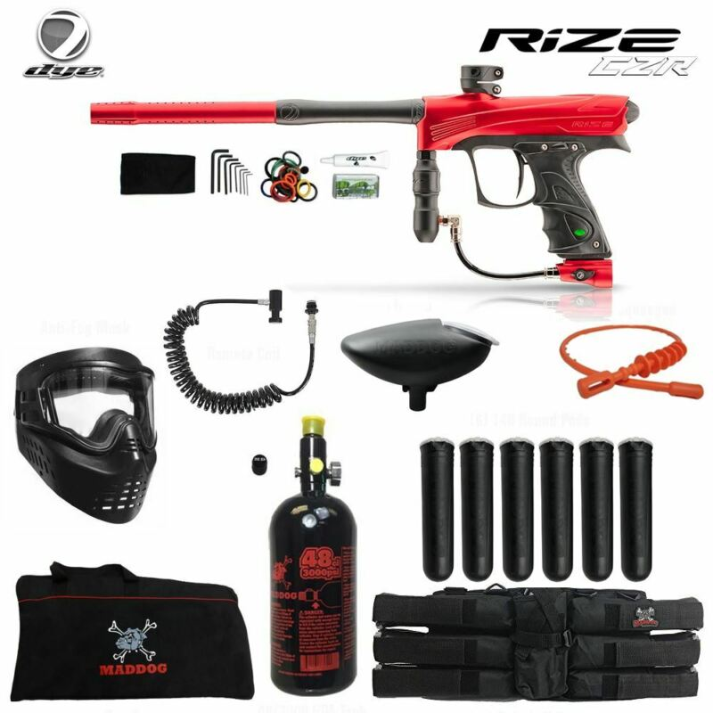 Dye Rize CZR Corporal HPA Paintball Gun Package - Red / Black