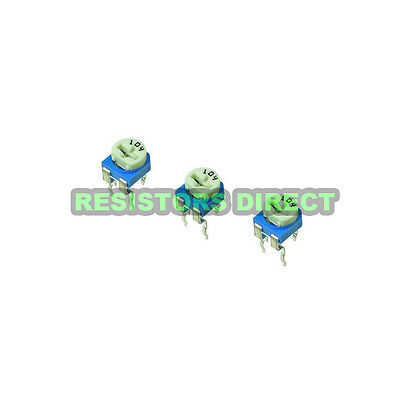 20pcs 100k Ohm Variable Resistor Horizontal Trimpot Trimmer Potentiometer D17