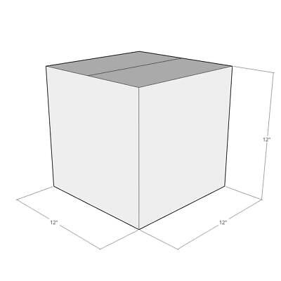 15 New Corrugated Boxes - Size 12x12x12 White - 32 Ect