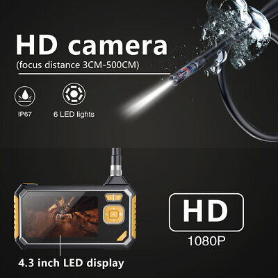 Farbe Wasserdichte Kamera (4,3 Zoll HD LCD Farbbildschirm Endoskop 1-10 m 6LED Farbkamera Wasserdicht S3A7)