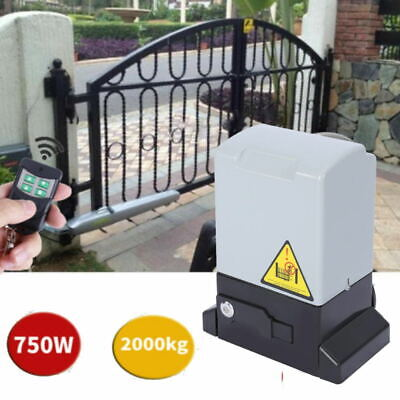 Electric Sliding Gate Opener Operator w/Remote Control + Infrared Probe 2000kg