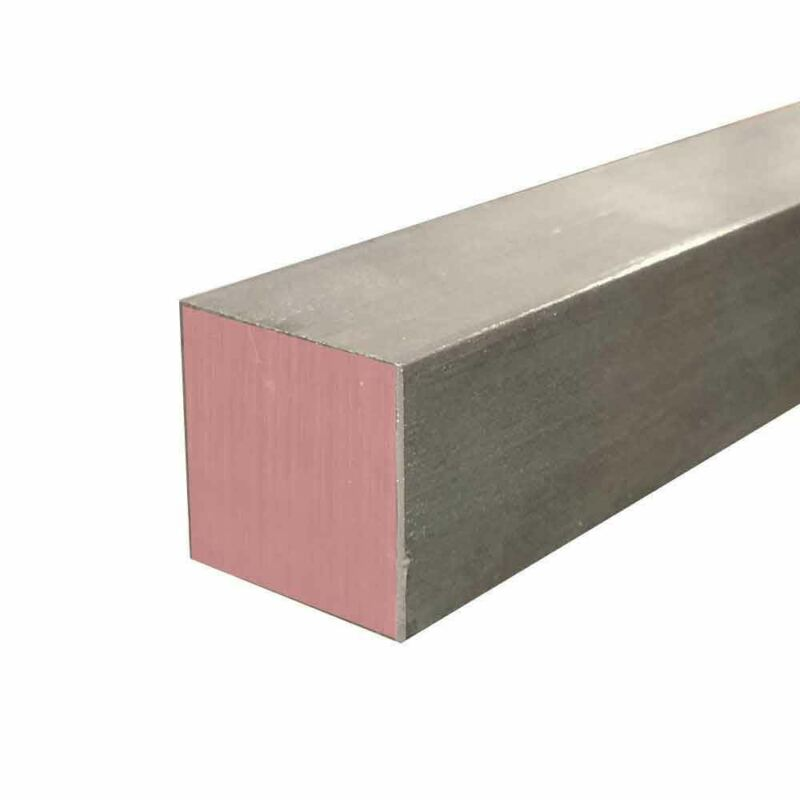 """303 Stainless Steel Square Bar, 2"""" x 2"""" x 36"""""""