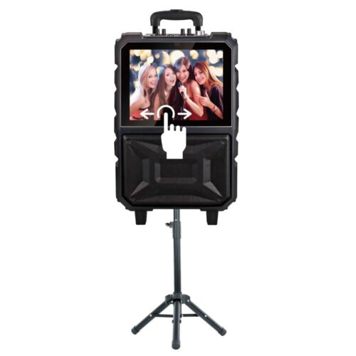 Qfx Portable Touch Screen Karaoke Speaker With Bluetooth