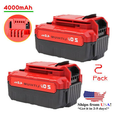 2 Pcs 20V Max 4 0Ah Li Ion Battery For Porter Cable Pcc685l Pcc680l Power Tools