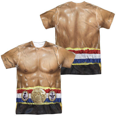 Authentic Rocky Movie Apollo Costume Outfit Uniform Allover Front Back T-shirt