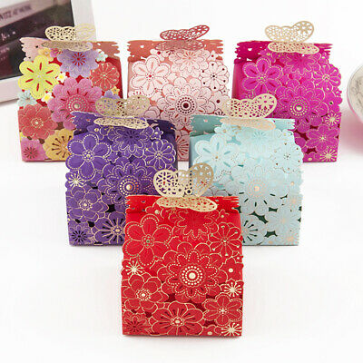 10XButterfly Love Heart Favor Gift Box Candy Cake Boxes Wedding Party Decor Hot - Cake Favor Boxes