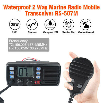 25W VHF Waterproof FM DCS Ship 2 Way Mobile Radio Call Auto-answer GPS Receiver
