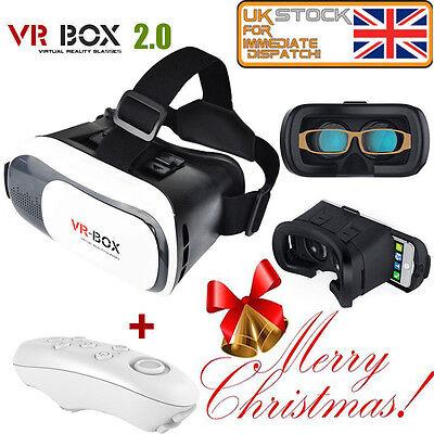 Universal 3D Virtual Reality VR BOX V2.0 Glasses Headset + Bluetooth Remote