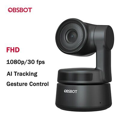 OBSBOT Tiny AI-Powered PTZ Webcam 1080p 2-Axis Gimbal For Video Chat Live Stream